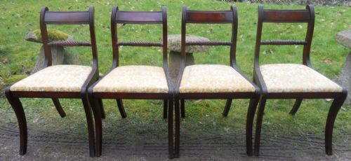 Set of Four Regency Style Mahogany Dining Chairs